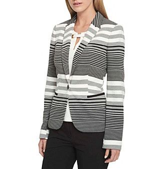 Tommy Hilfiger Striped Elbow Patch Jacket