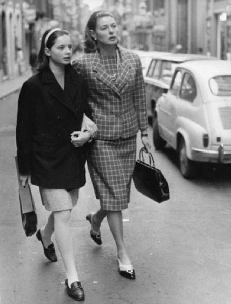 Isabella Rossellini and Ingrid Bergman
