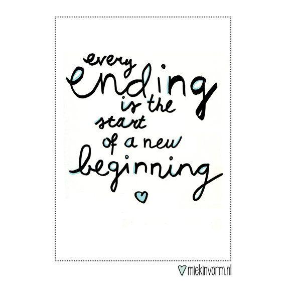 Chaque fin est le début d'un nouveau commencement || Carte postale avec citation 016                                                                                                                                                                                 Plus