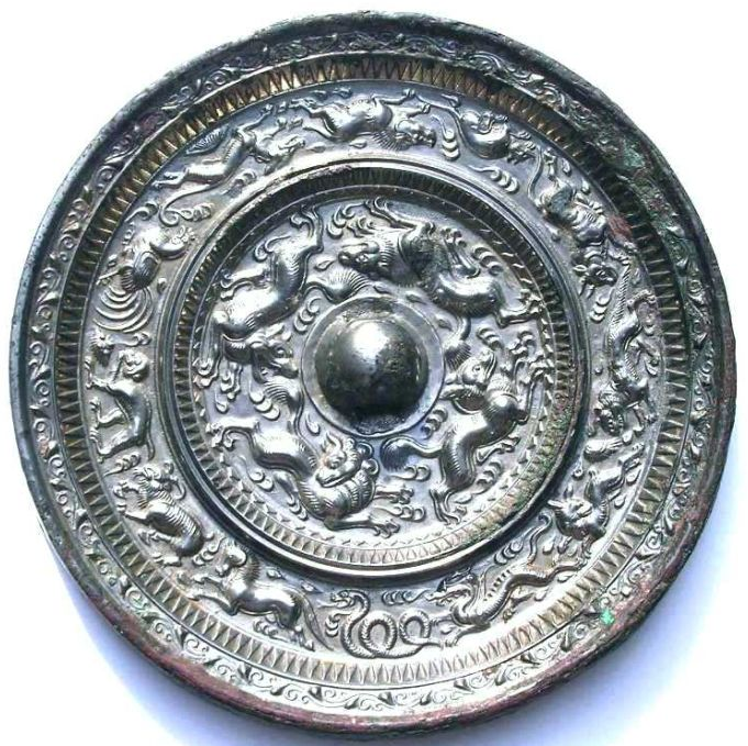 The Han dynasty Bronze Mirror,China.