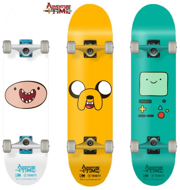 Skates Hora de Aventura: Finn, Jake e Beemo