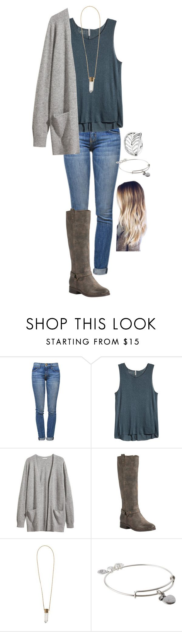 """""""Don't want to go to school tmrw"""" by madelynprice ❤ liked on Polyvore featuring Current/Elliott, H&M, Corkys, Chloé, Alex and Ani and Pandora"""