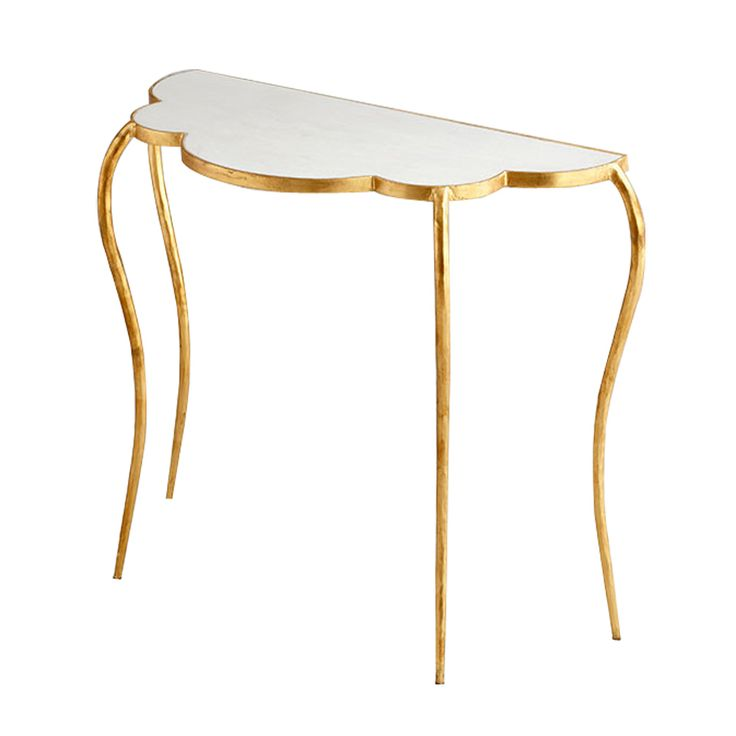 Flora Console Table In Gold Leaf This Piece Is Not Eligible For Return Or  Exchange.