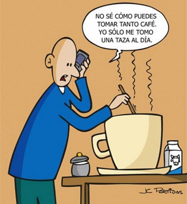 Una sóla taza de café al día. #humor