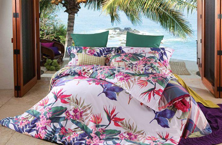 Tropical charming scene Home textiles 3D Bedding Set Duvet Cover bed sheet set linen ropa de cama edredon Bedclothes sabanas