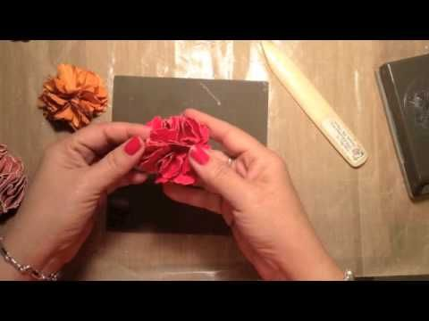 The simple how-to for beautiful DIY flowers in this video tutorial using Stampin' Up! punches and card stock.  www.inkandinspirations.com