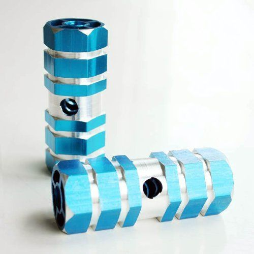 Bike Pegs - Blue Aluminum Alloy Stunt Foot Axle Bike Peg for BMX Bikes KidSize *** See this great product.