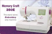 Buy your Janome 350e Embroidery Only Sewing Machine with FREE SHIPPING Australia Wide plus Full Janome Warrantee Online at Bargain Box ONLY ...