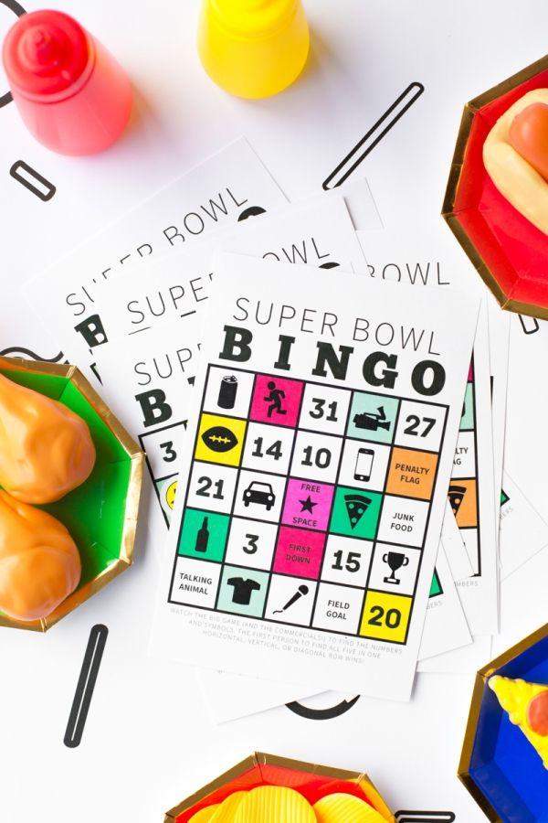 Super Bowl Bingo (Free Printable) | studiodiy.com