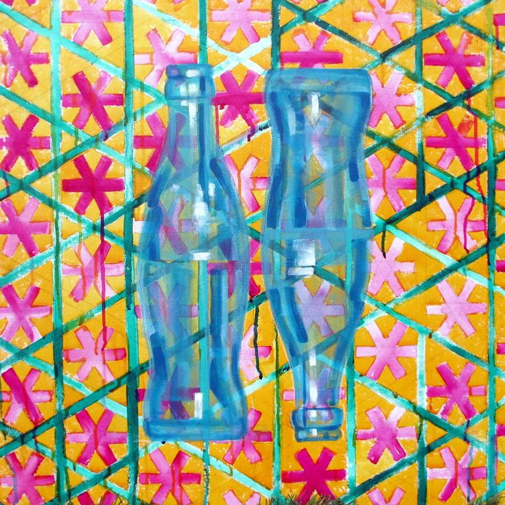 two cokes, acrylic on canvas, 70/70