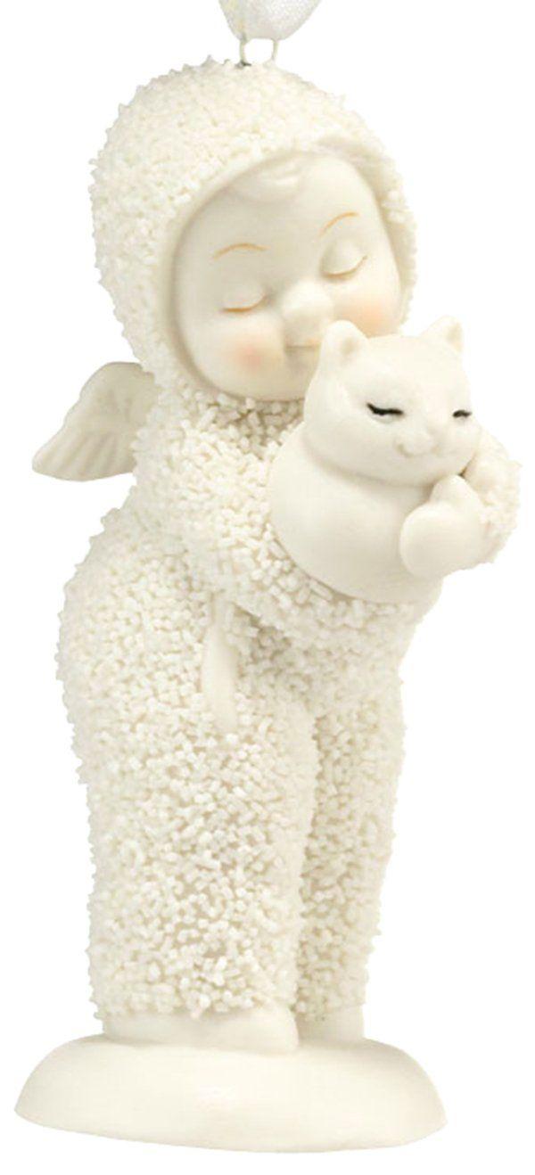 Snowbaby ornaments - Snowbabies Kitten Carrier Ornament