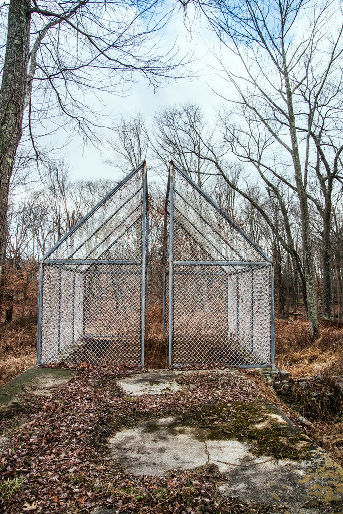 Philip Johnson's Ghost House on the grounds of his New Canaan property