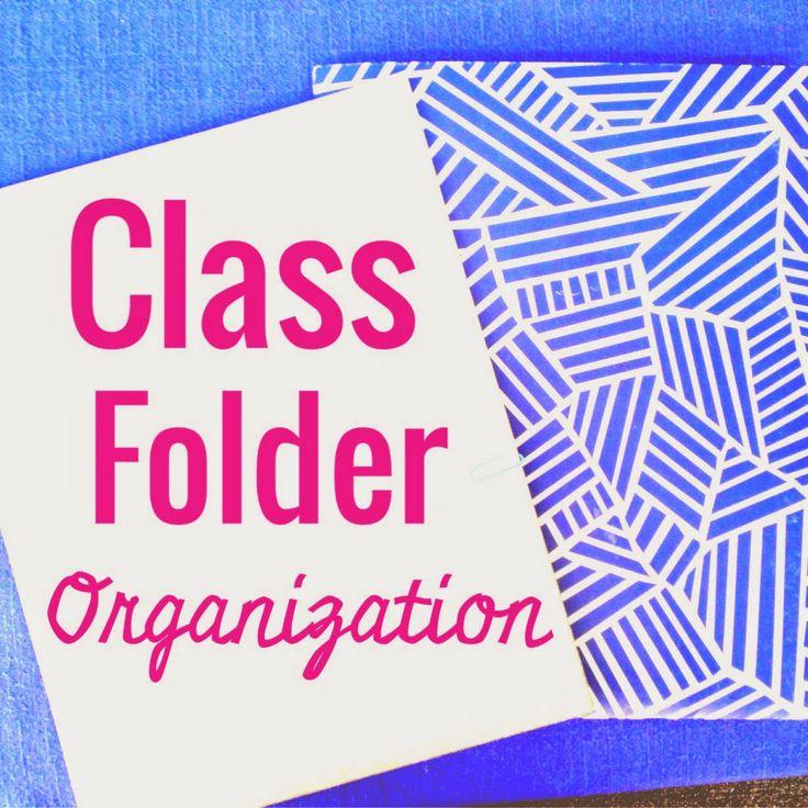 Class Folder Organization via Organized Charm