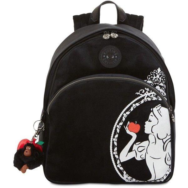 Kipling Disney Snow White Paola Velvet Small Backpack ($149) ❤ liked on Polyvore featuring bags, backpacks, black, velvet bag, velvet backpack, knapsack bag, kipling and daypack bag