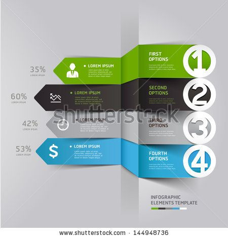 Modern Arrow Infographics Element Origami Style. Vector Illustration. Can Be Used For Workflow Layout, Diagram, Number Options, Step Up Options, Web Design. - 144948736 : Shutterstock