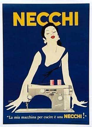 Vintage Italian Posters ~ #Vintage #Italian #posters ~ Gaguani, Necchi- Blue