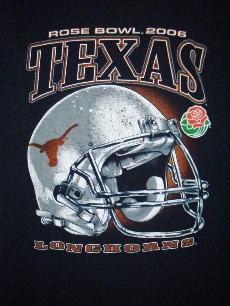 VTG Texas Longhorns football adult XL t-shirt 2006 Rose Bowl NCAA big helmet  #Unbranded #TexasLonghorns