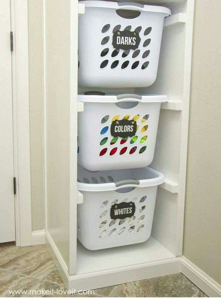 Best 25 laundry organizer ideas on pinterest laundry organizer diy laundry baskets and diy - Laundry basket ideas for small space ideas ...