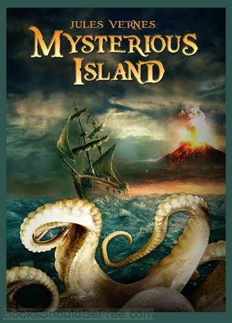 The Mysterious Island by Jules Verne. The book tells the adventures of five Americans on an uncharted island in the South Pacific. The story begins in the American Civil War, during the siege of Richmond, Virginia, the capital of the Confederate States of America.
