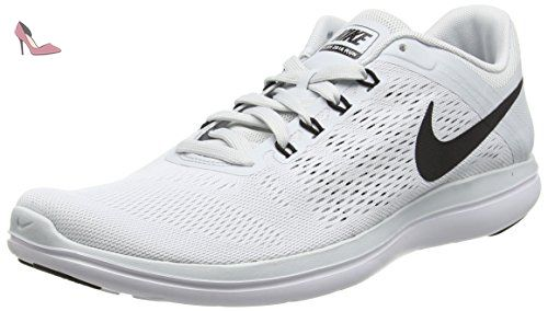 Nike Flex 2016 Run, Chaussures de Running Compétition Homme, Gris (Pure Platinum/Black/White), 47.5 EU - Chaussures nike (*Partner-Link)
