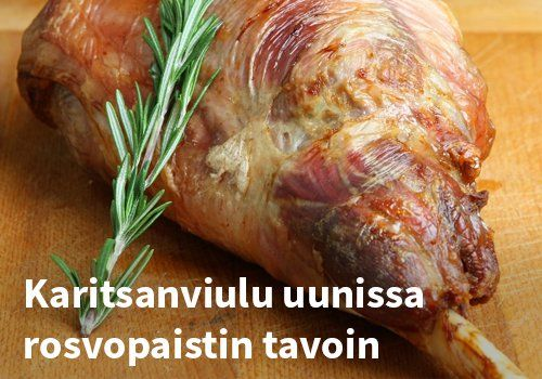 Karitsanviulu uunissa rosvopaistin tavoin, Resepti: Viherpippurin kokkailusta #kauppahalli24 #pääsiäinen #karitsa #ruoka #resepti