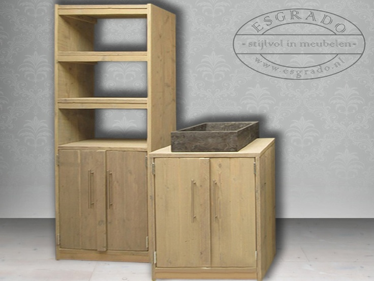 badkamermeubels van steigerhout op maat mooie meubelen