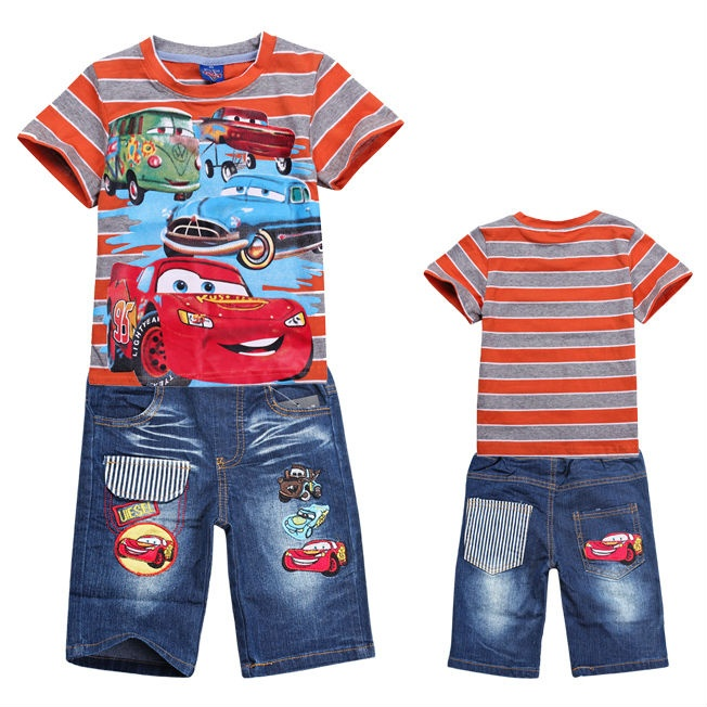 Cars Set (Top+Pant) Size 95,100,110,120,130,140 Ages 1-6 T Material cotton and jeans  Rp 135.000,-
