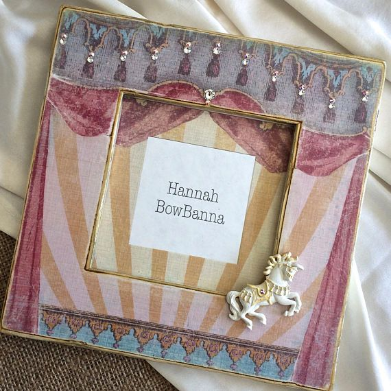 Baby Photo Frame Gift Personalized Pony Circus First Birthday