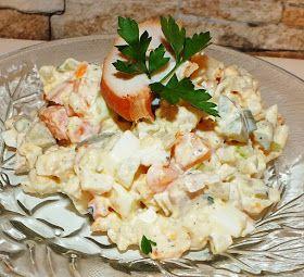 przepis na sałatkę z wędzonym kurczakiem:  (porcja dla 4 osób)   200g wędzonego kurczaka może być filet albo udko,  2 duże marchewki ugotowa...