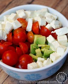 The Scrap Shoppe: Pasta Avocado Caprese Salad