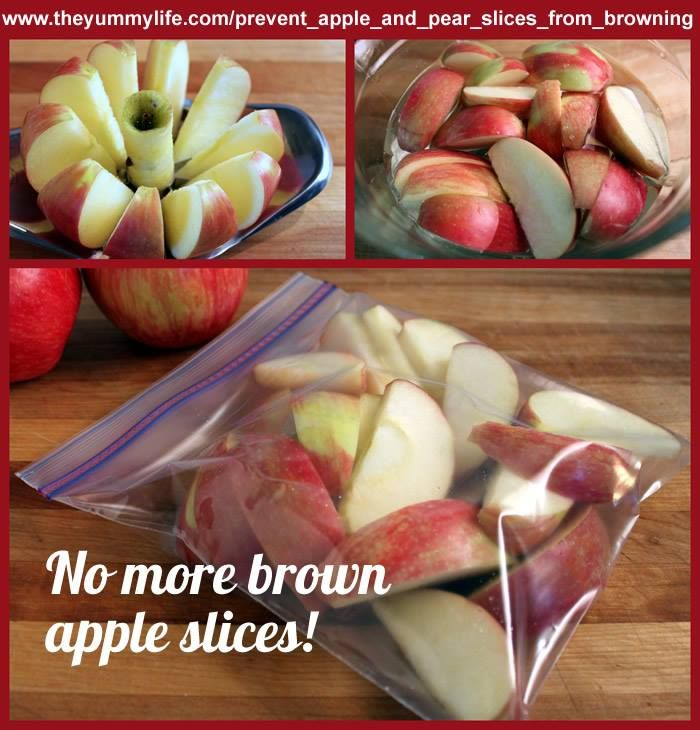How To Prevent Apple and Pear Slices From BrowningRecipe Snacks, Kids Food Snacks, Food Ideas, Kids Foodsnack, Apples Snacks, Lunches Ideas, Apples Slices, Brown Apples, Snacks Ideas