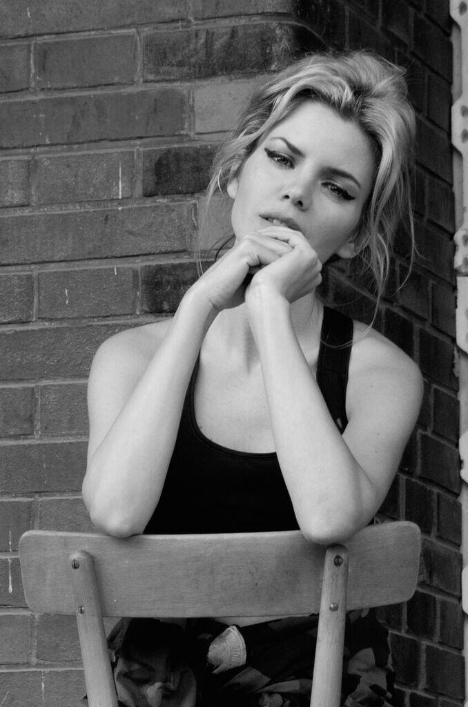 By Eva Gii <3 - phototest - nakladove nadrazi Zizkov in Prague - simple style - american apparel body - oversize parka army - hair up - messy hair - inspiration bardot makeup - cat eye - lipstick mac - nude - black and white photography -