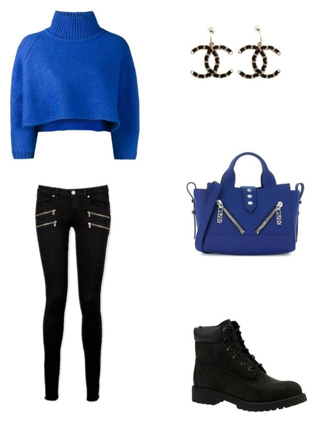 Bez tytułu #70 by wiki208 on Polyvore featuring moda, Vika Gazinskaya, Paige Denim, Timberland, Kenzo and Chanel
