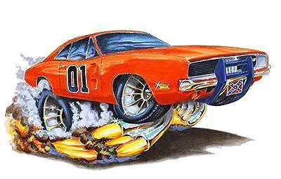The Duke Boys General Lee Cartoon