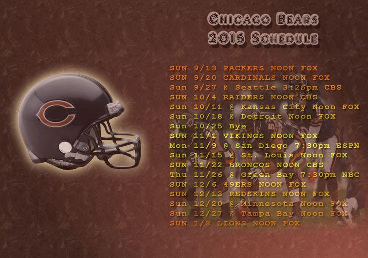 Chicago Bears 2015 Schedule