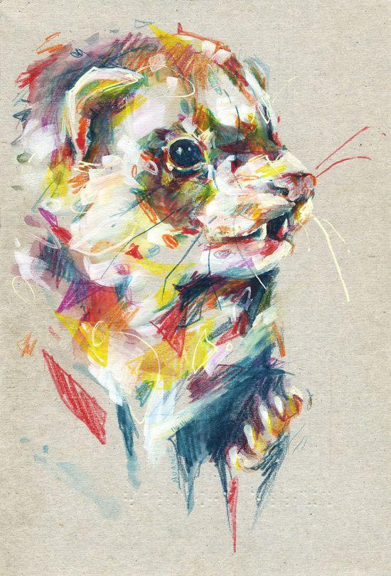 Ferret V Art Print by Nuance