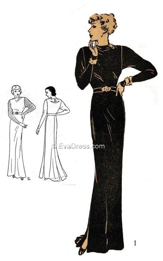 1936 Evening Gown E30-7446