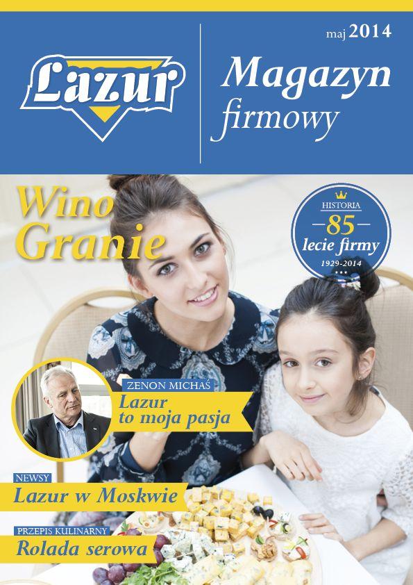 Projekt gazetki firmowej dla firmy Lazur | www.pinkelephant.pl