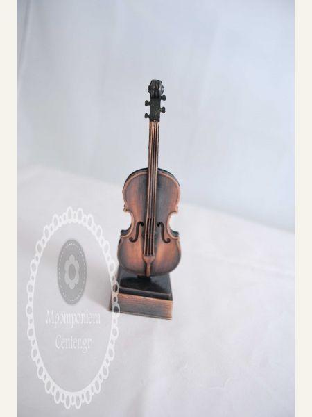 Μπομπονιέρα βάπτισης μεταλλικό βιολί , εξαιρετική ποιότητα - ξύστρα