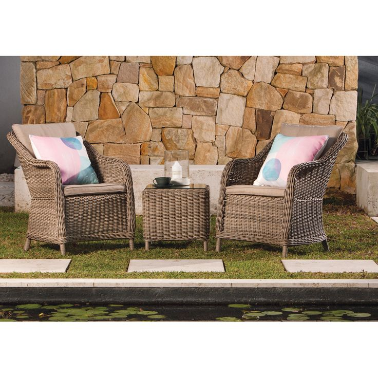 Shelta Corinella 3 Piece Chat Setting - BBQ's & Outdoor
