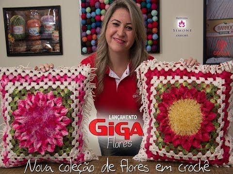 Lançamento Giga Flores em Crochê - Professora Simone - YouTube
