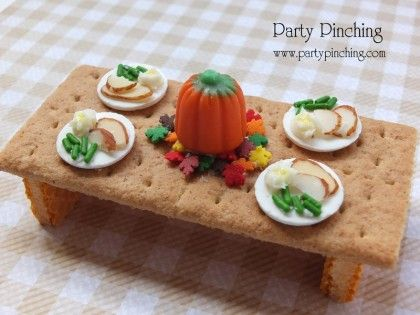 Teeny Tiny Turkey Table! Come on. Really? I know you want to make this - it's so cute. AND it's easy. AND it's tasty. The kids will love them, ladies will squeal. So make it, you'll thank me.