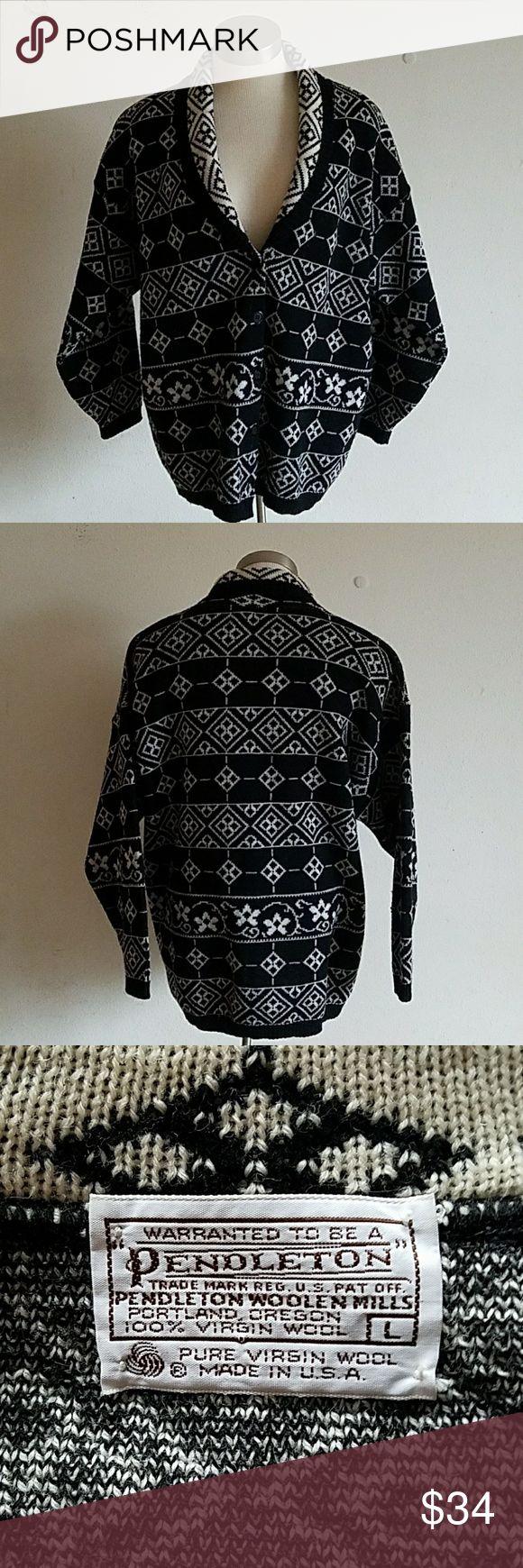 "Pendleton Woolen Mills Women's Cardigan Gently used. Pendleton Woolen Mills 5 button front cardigan. Floral and geometric pattern designs.   Measurements laying flat: Pit to pit - 22"" Shoulder to bottom hem - 26.75"" Pendleton Sweaters Cardigans"