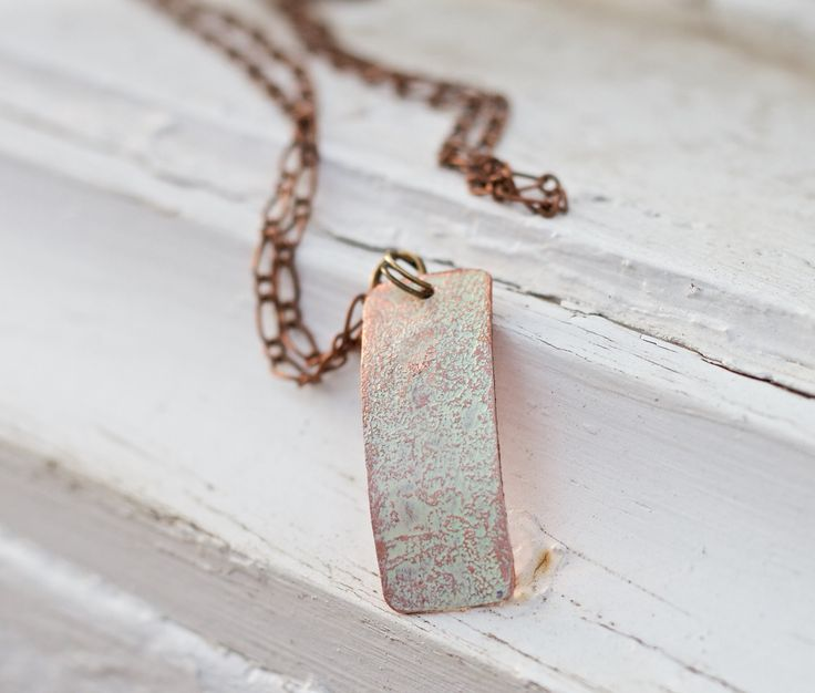 Personalized Copper Pendant Gift for Women - Gift for Women for Anniversary - 7th Anniversary Wedding Anniversary Necklace - Mother's Day Gift from Husband - Anniversary Gift from Husband