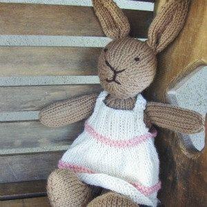 Knit stuff animal.....something girly like this sweet bunny!