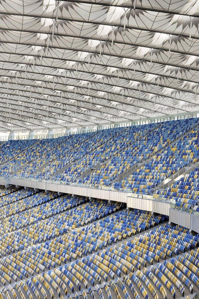 Olympic Stadium Kiev, #Kiev, 2008 by gmp Architekten #architecture #sport #stadium #modern #archilovers