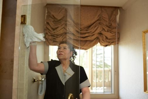 Cleaning Glass Shower Door With Drapery Brown ~ http://lanewstalk.com/cleaning-glass-shower-door-using-lemon-oil/
