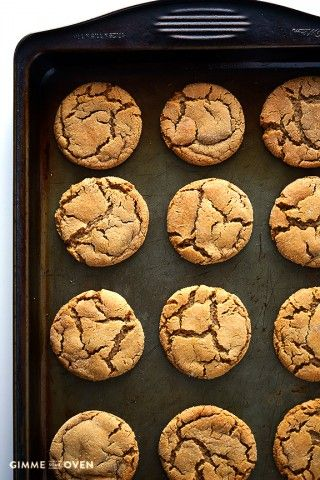 These sound so good!!!     Ginger Molasses Cookies, gimmesomeoven.com