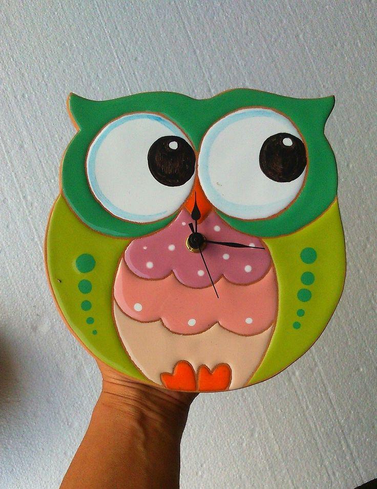 ceramica come mestiere: Nuove ed originali forme per orologi. Gufo, pesce,...