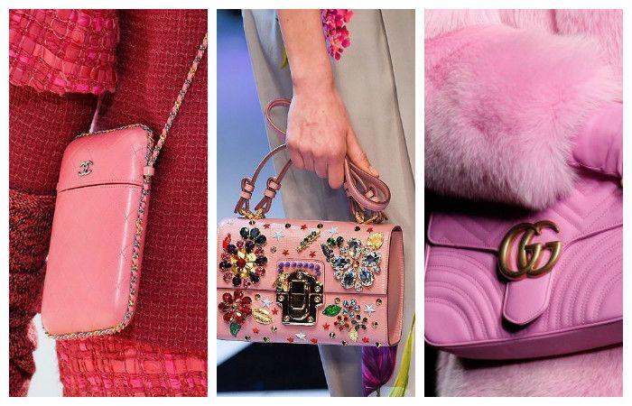 Модные розовые сумки осень – зима 2016 – 2017, фото.